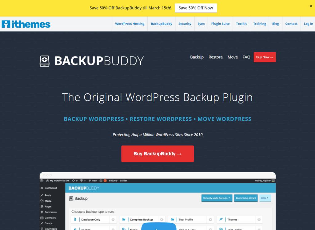 BackupBuddy Home Page