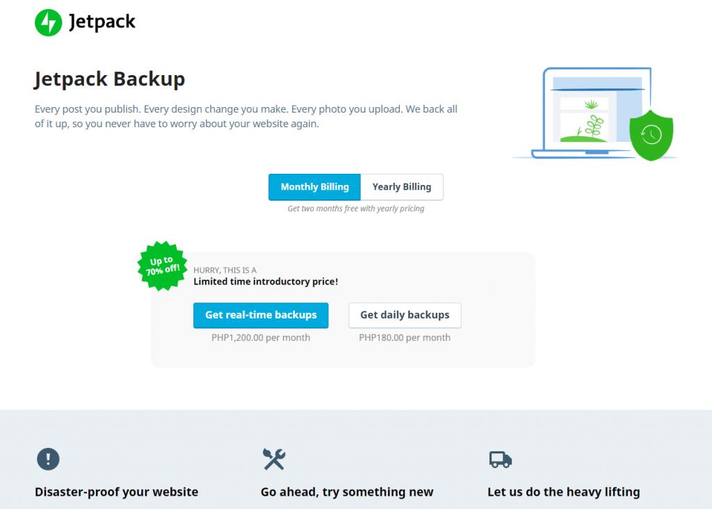 Jetpack Backup
