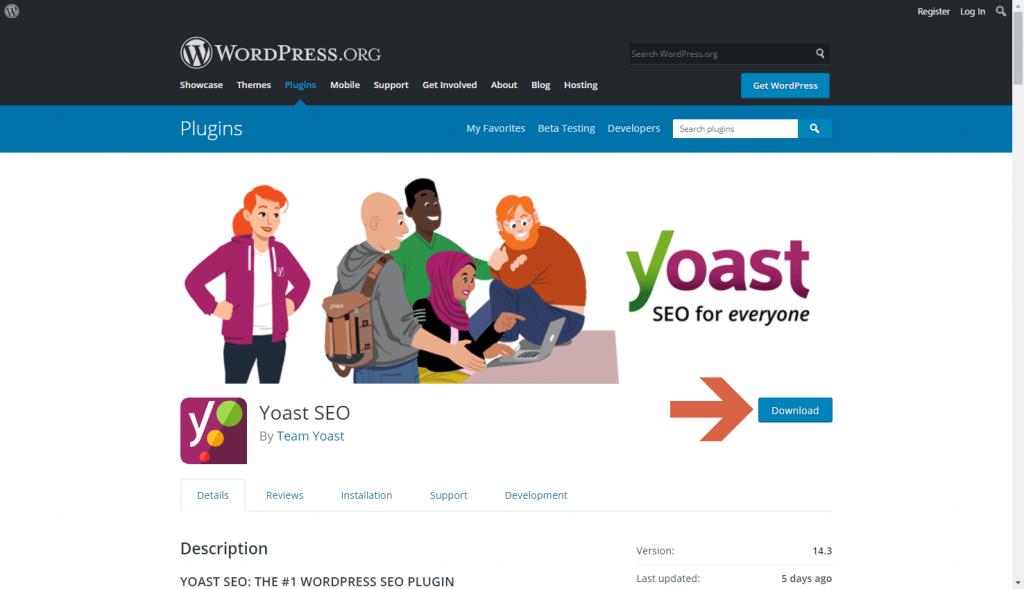 How to download the Yoast SEO WordPress plugin